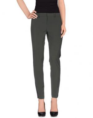 Повседневные брюки TO-MAY. Цвет: зеленый-милитари