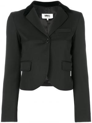 Укороченный пиджак Mm6 Maison Margiela. Цвет: чёрный