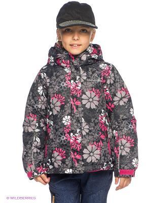 Куртка Icepeak. Цвет: черный, серый, фуксия