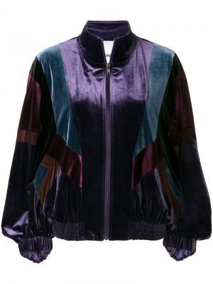 Куртка-бомбер Koché. Цвет: розовый и фиолетовый