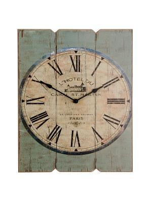 Часы настенные Mitya Veselkov. Цвет: хаки, бледно-розовый, темно-коричневый
