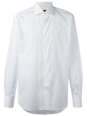 Классическая рубашка Corneliani. Цвет: белый