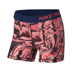 Шорты для тренинга с принтом девочек школьного возраста  Pro 10 см Nike. Цвет: розовый