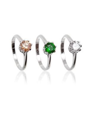 Кольцо Kameo-bis. Цвет: серебристый, бежевый, белый, зеленый