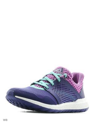Кроссовки дет. спорт. energy bounce 2 j Adidas. Цвет: фиолетовый