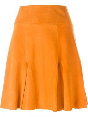 Расклешенная юбка Dagmar. Цвет: жёлтый и оранжевый