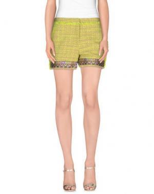 Повседневные шорты JO NO FUI. Цвет: кислотно-зеленый
