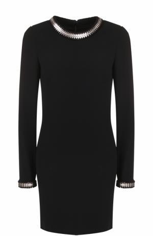 Мини-платье с длинным рукавом и металлизированной отделкой Dsquared2. Цвет: черный