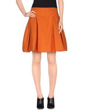 Мини-юбка GAETANO NAVARRA. Цвет: оранжевый