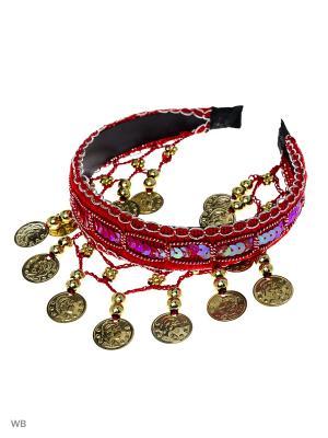 Диадема-ободок Bizon. Цвет: красный