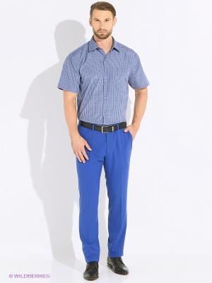 Рубашка мужская с коротким рукавом в клетку Mr. Marten. Цвет: темно-серый