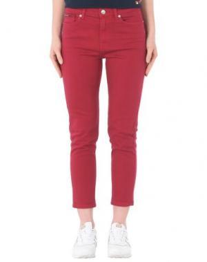 Джинсовые брюки TOMMY JEANS. Цвет: красный