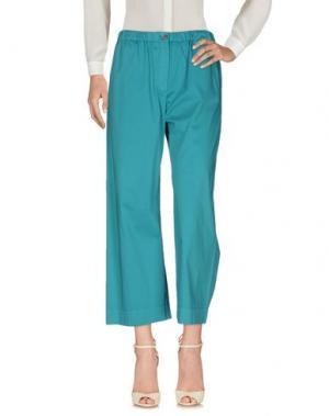 Повседневные брюки QL2 QUELLEDUE. Цвет: бирюзовый