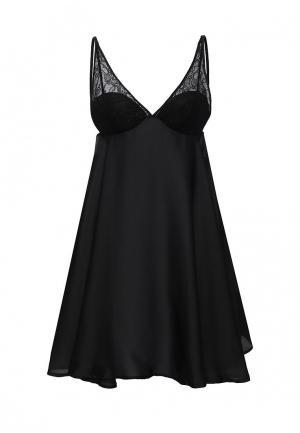 Сорочка ночная womensecret women'secret. Цвет: черный