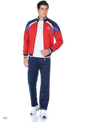 Спортивный костюм ADDIC. Цвет: темно-синий, красный