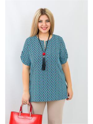 Блуза BALSAKO. Цвет: голубой