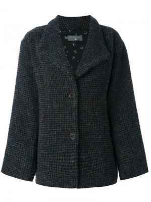 Пальто на пуговицах Cotélac. Цвет: синий