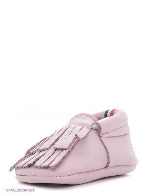 Пинетки U.S. Polo Assn.. Цвет: бледно-розовый