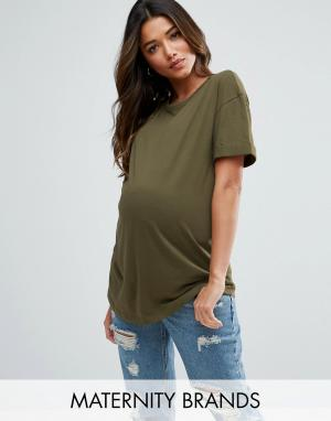 New Look Maternity Футболка бойфренда. Цвет: зеленый