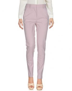 Повседневные брюки AGLINI. Цвет: розовый