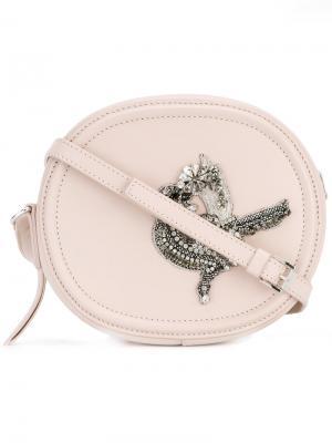 Декорированная сумка через плечо Nº21. Цвет: розовый и фиолетовый