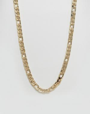 ASOS Массивная золотистая цепочка. Цвет: золотой