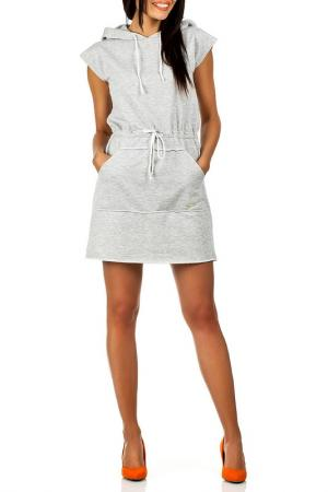 Платье Moe. Цвет: серый