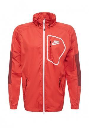 Ветровка Nike. Цвет: красный