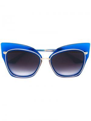 Солнцезащитные очки Stormy Dita Eyewear. Цвет: синий