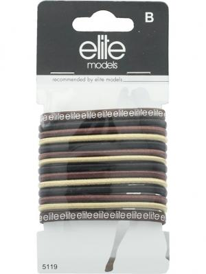 Набор резинок д/волос большие ELITE.. Цвет: коричневый, белый, серый