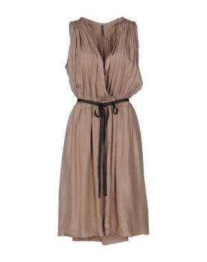 Платье до колена LIVIANA CONTI. Цвет: хаки