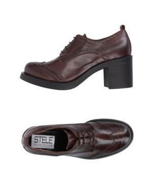 Обувь на шнурках STELE. Цвет: темно-коричневый
