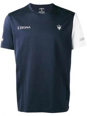 Футболка Maserati Z Zegna. Цвет: синий