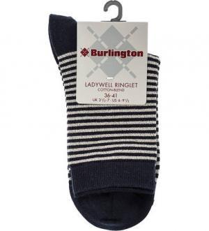 Синие носки в полоску Burlington. Цвет: синий