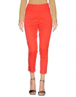 Повседневные брюки SPAGO DONNA. Цвет: красный