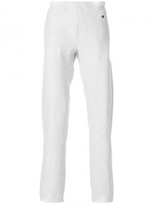 Зауженные спортивные брюки Champion. Цвет: серый