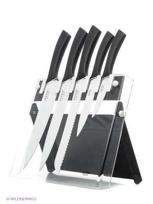 Комплект ножей Bekker. Цвет: черный, серебристый