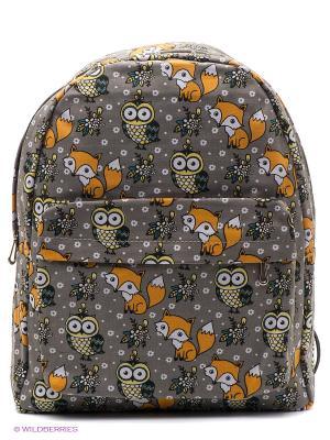 Рюкзак The Foxy Owl (серый) Kawaii Factory. Цвет: серый
