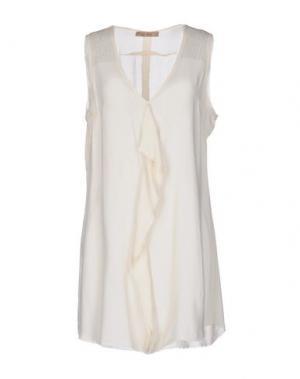 Короткое платье 40WEFT. Цвет: слоновая кость