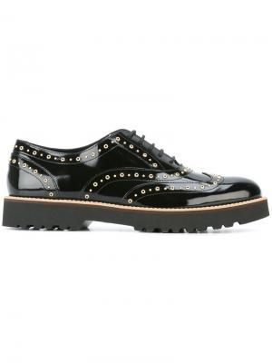 Туфли на шнуровке с заклепками Hogan. Цвет: чёрный