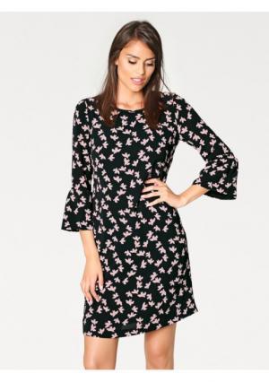 Платье ASHLEY BROOKE by Heine. Цвет: черный/розовый