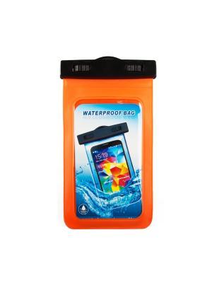 Чехол LP универсальный водонепроницаемый окошко до 5 (оранжевый) Liberty Project. Цвет: оранжевый