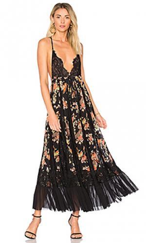 Вечернее платье-макси ill take your farther Hot As Hell. Цвет: черный