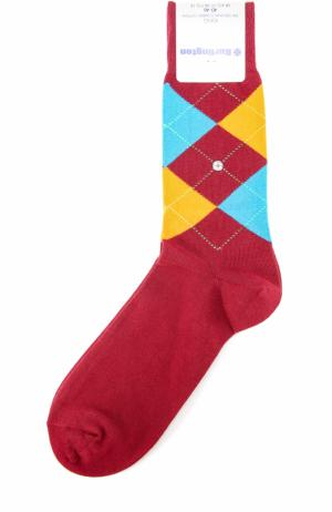 Хлопковые носки King Burlington. Цвет: бордовый