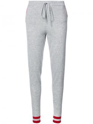Спортивные брюки с принтом вишни Chinti & Parker. Цвет: серый