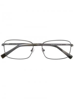 Оптические очки в квадратной оправе Ermenegildo Zegna. Цвет: металлический