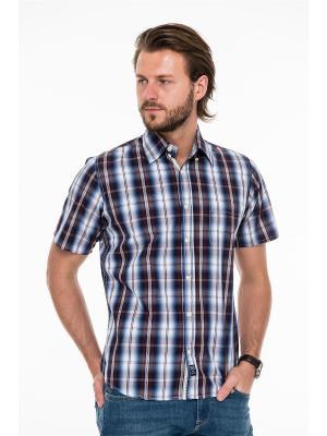 Рубашка Westrenger. Цвет: бордовый, белый