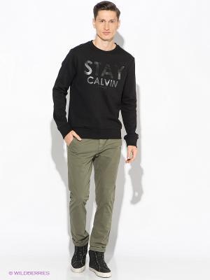 Брюки Calvin Klein. Цвет: темно-зеленый