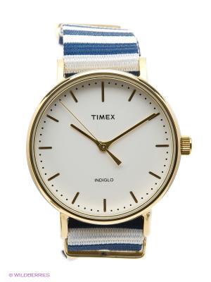Часы TIMEX. Цвет: синий, белый