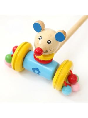 Каталка большая Мышь Винтик и Шпунтик. Цвет: бежевый